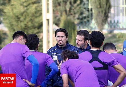 گزارش تمرین استقلال در غیاب 12 بازیکن