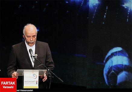 مهدی تاج در ورزشگاه برای افتتاحیه لیگ شانزدهم