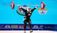تصاویری از اولین دختر ایرانی روی تخته وزنه برداری