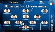 ترکیب رسمی ایتالیا برابر فنلاند