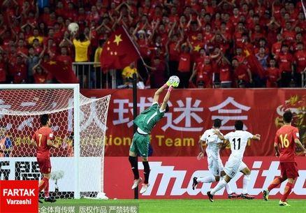 ابراز رضایت بازیکنان چین از کسب یک امتیاز برابر ایران