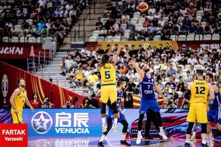 استرالیا راهی نیمهنهایی مسابقات جامجهانی بسکتبال ۲۰۱۹ - چین شد