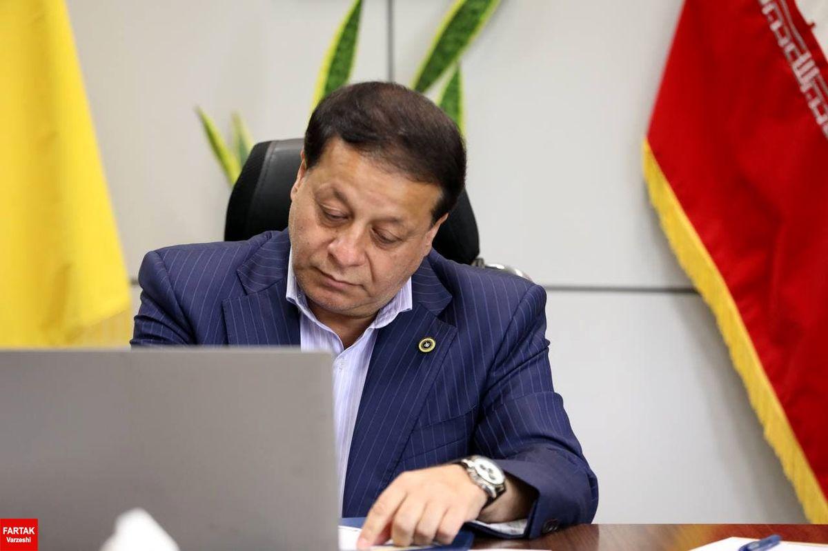 پیام تبریک مدیرعامل باشگاه سپاهان