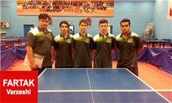 تیم جوانان تهران قهرمان مسابقات تنیس روی میز کشور شدند