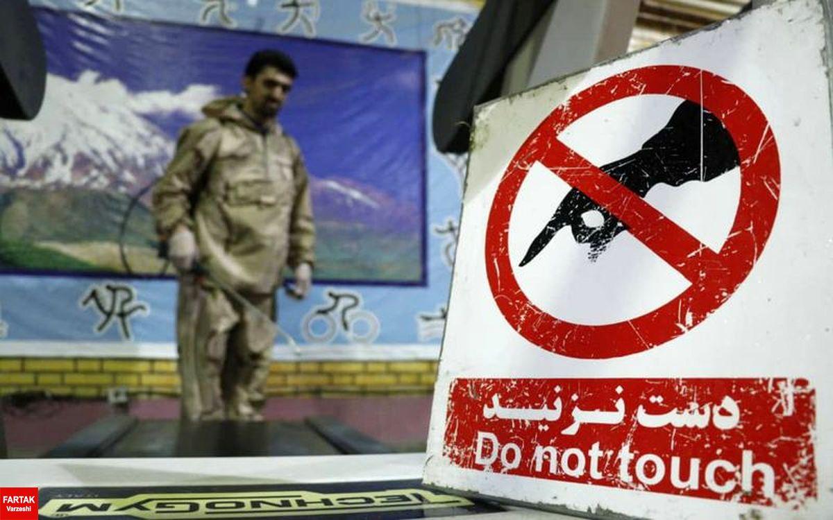 ضد عفونی کردن محل تمرینات بدنسازی بازیکنان مس کرمان(عکس)