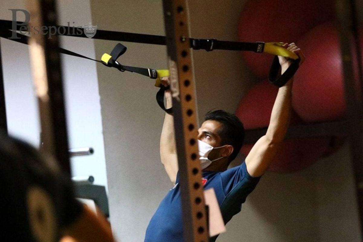 برگزاری تمرین پرفشار پرسپولیسیها در ورزشگاه شهید کاظمی