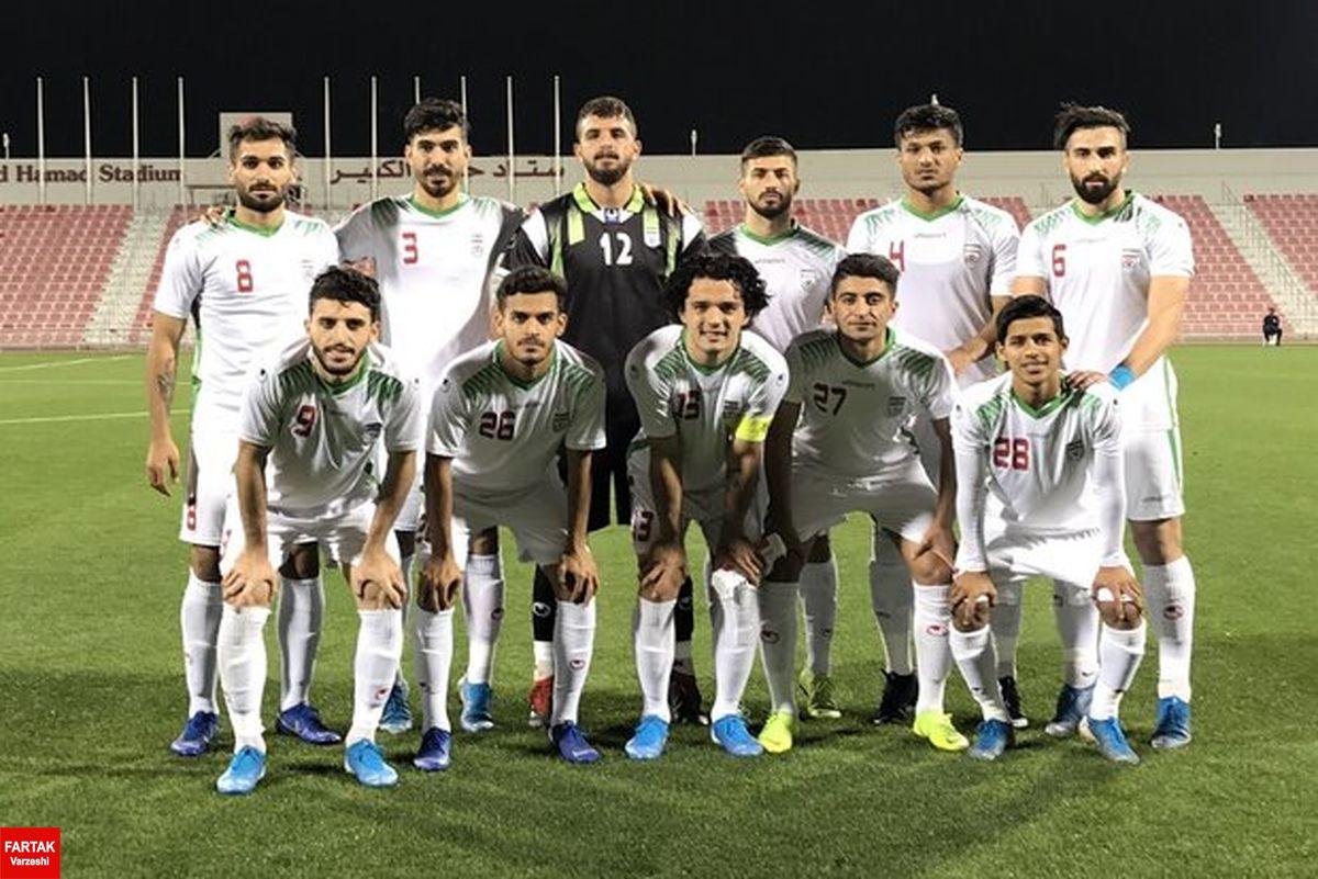 اعلام ترکیب تیم امید ایران مقابل امید ازبکستان