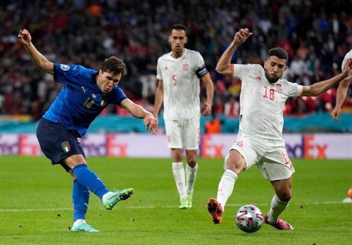 مصاف ایتالیا و اسپانیا به وقتهای اضافه کشیده شد