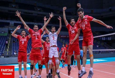تیم والیبال جوانان ایران در باز ی مقابل قطر به پیروزی رسید