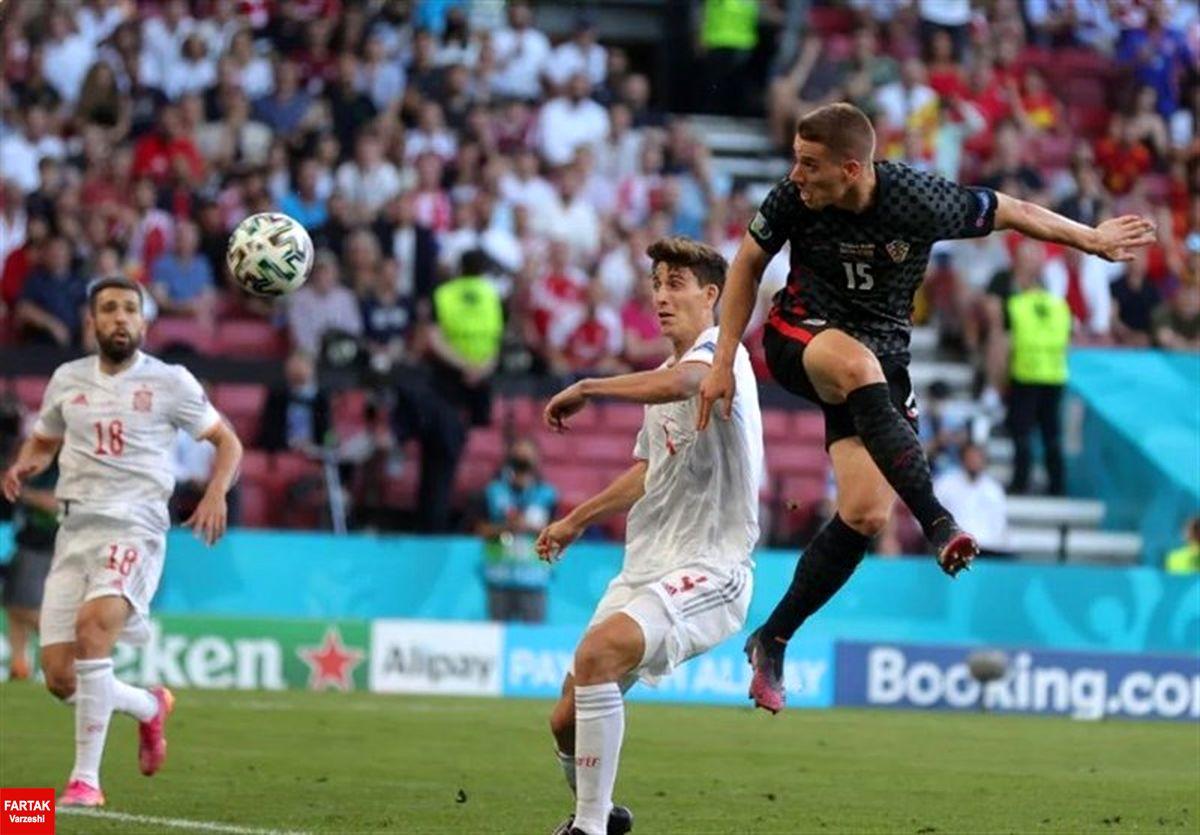 یورو ۲۰۲۰| دیدار پرگل اسپانیا و کرواسی به وقتهای اضافه کشیده شد
