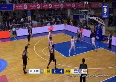 خلاصه بسکتبال ایران 89 - ژاپن 97