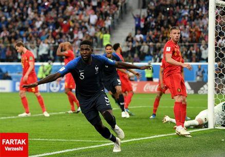 اومتیتی بهترین بازیکن دیدار فرانسه و بلژیک شد