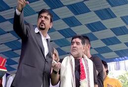 رونمایی از مجسمه مارادونا در هند + فیلم