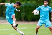گزارش تمرین استقلال| تمرین مفرح بازیکنان پپیش از سفر به اراک در روز تولد 2 بازیکن
