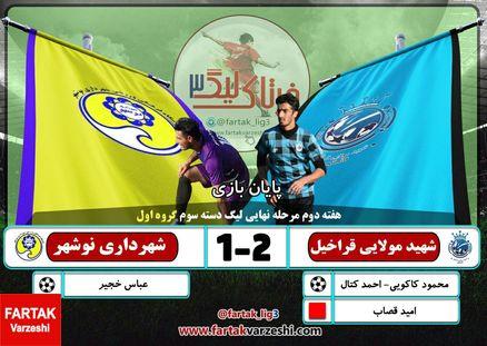 شهید مولایی قائمشهر 2 - شهرداری نوشهر 1؛ شهید مولایی فاتح ال مازنو؛ شهرداریچیهای جوان غافلگیر شدند