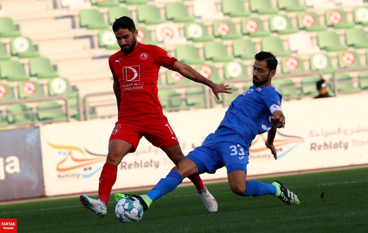 پیروزی العربی مقابل الخریطیات با گلزنی محمدی