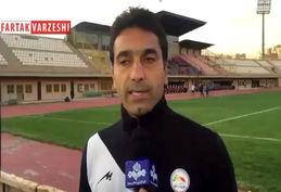 فیلم/ صحبت های کیانوش رحمتی مربی تیم گل ریحان البرز بعد از بازی با مس رفسنجان