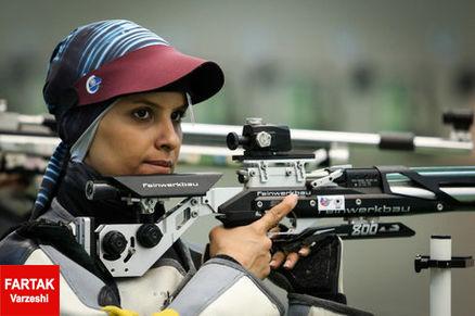 الهه احمدی مجددا در المپیک ششم شد