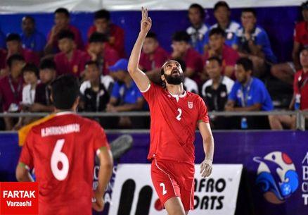 جام بین قارهای فوتبال ساحلی| ساحلی بازان ایران با شکست روسیه حریف امارات شدند