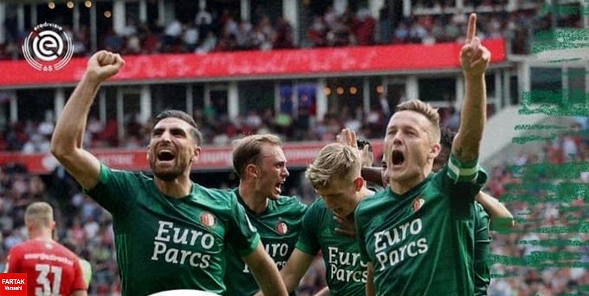 لیگ فوتبال هلند  برد پرگل فاینورد با جهانبخش مقابل گوتسه و یارانش