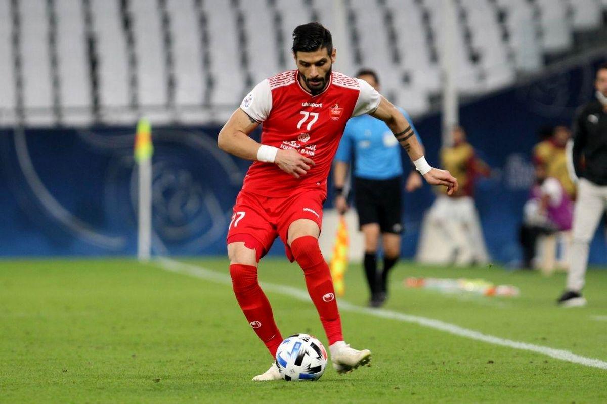 سعید آقایی بهترین مدافع چپ آسیا ۲۰۲۰