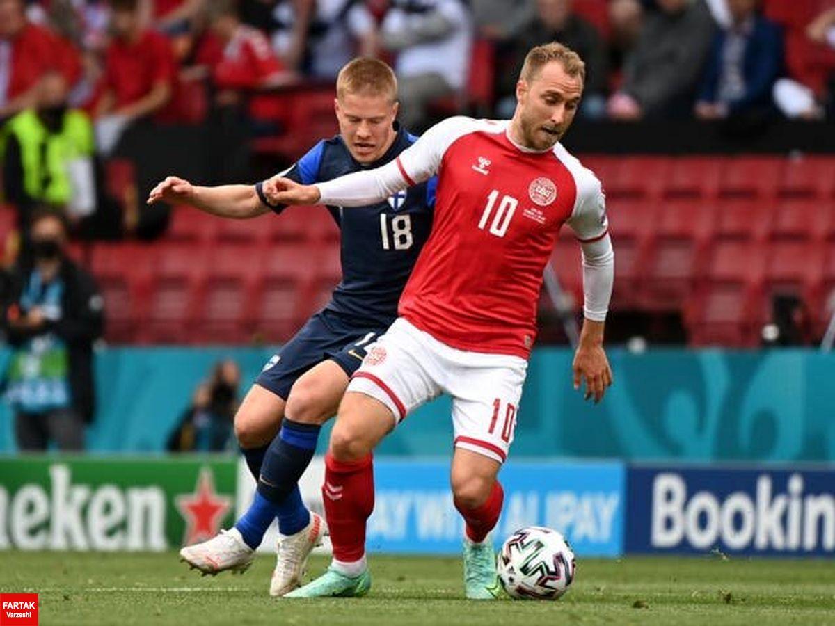 یورو ۲۰۲۰  شوک ترسناک، بازی دانمارک - فنلاند را ناتمام گذاشت/ اریکسن در آستانه مرگ!