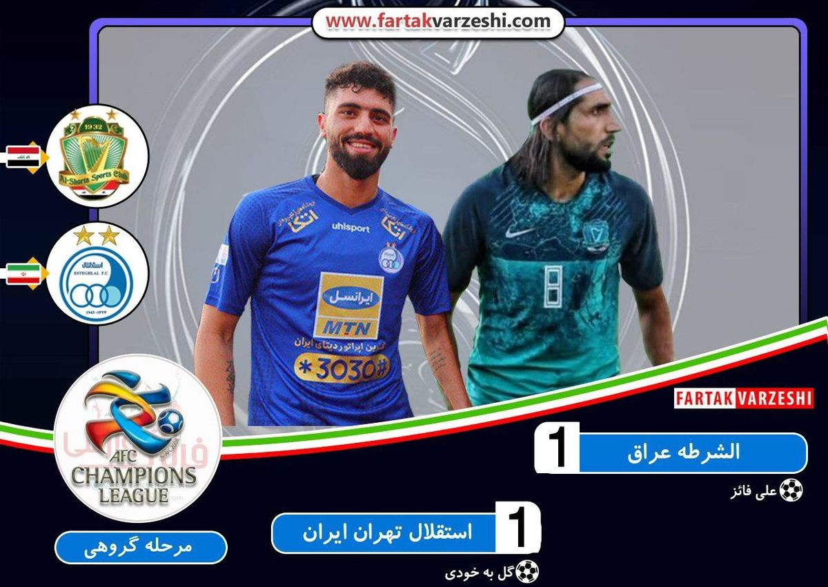 الشرطه 1  استقلال 1 / توقف استقلال مقابل الشرطه در زمینی ناهموار