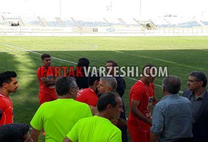 تصاویر/ حضور علی پروین در بین بازیکنان پرسپولیس