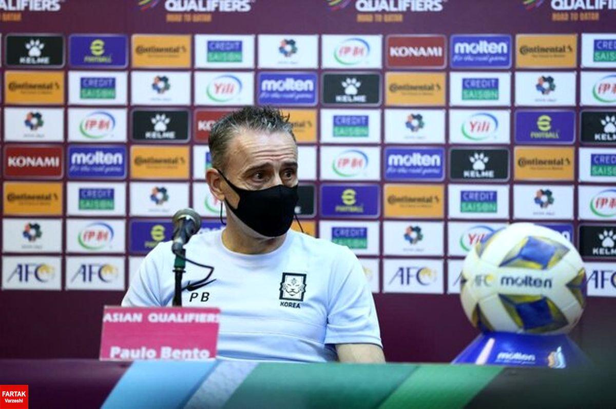 بنتو: می خواهیم مقابل ایران بهترین عملکردمان را داشته باشیم