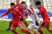 تساوی تیم ملی جوانان مقابل تاجیکستان