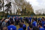 حضور فرماندار واعضای شورای شهر برسر تمرین ملوان