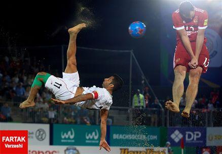 برتری پرگل تیم ملی فوتبال ساحلی ایران مقابل آمریکا
