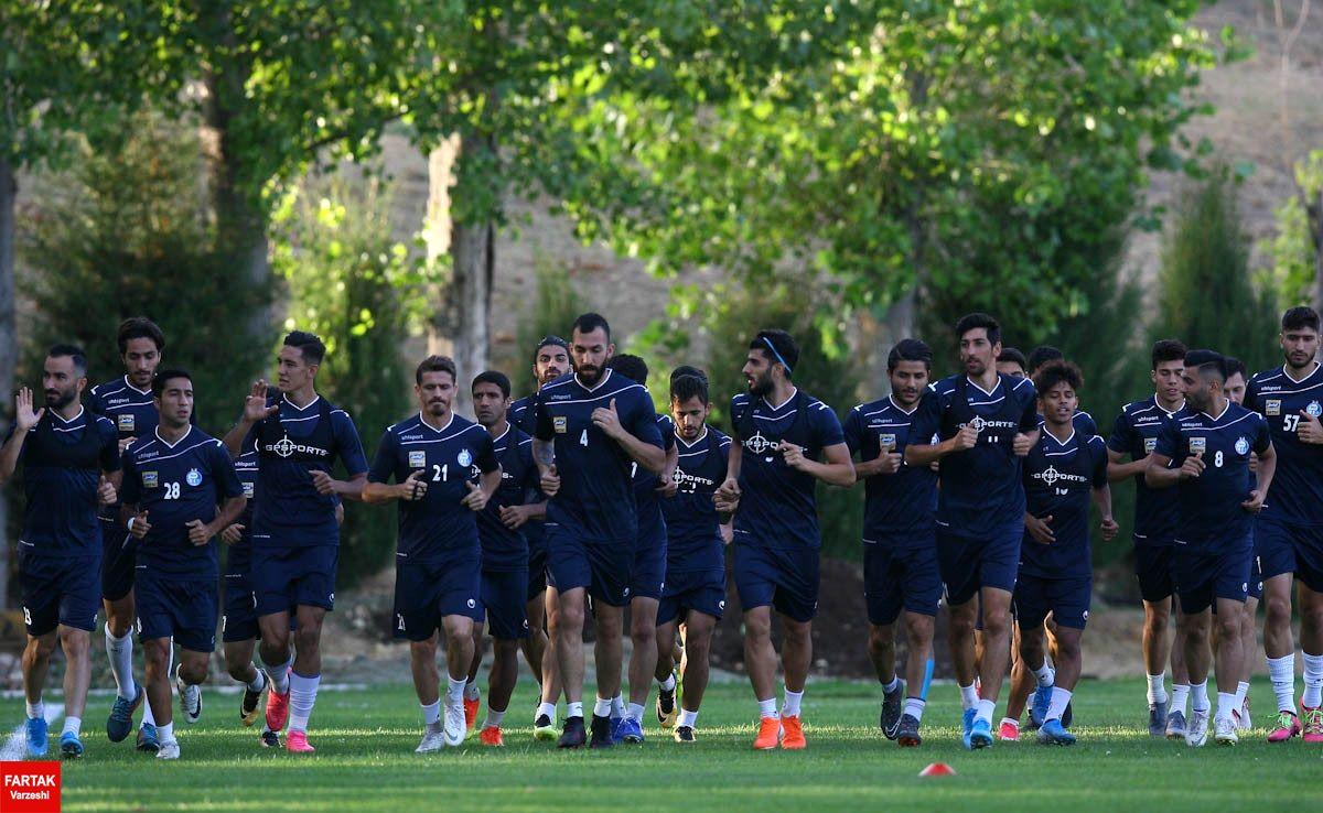 تمرین نفت مسجدسلیمان با حضور بازیکنان اصلی برگزار شد