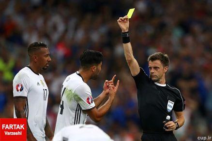 اولین کارت زرد بازی برای آلمان ها