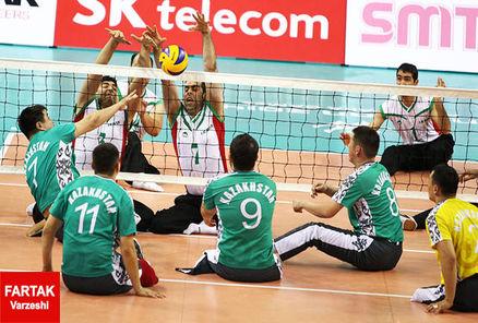 دومین پیروزی تیم ملی والیبال نشسته ایران مقابل هلند میزبان