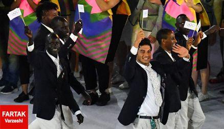رژه خاص ترین کاروان المپیک در افتتاحیه + عکس