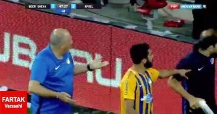 پرتاب بطری به طرف بازیکن مسلمان اردنی