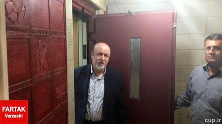 سرپرست باشگاه استقلال در باشگاه پرسپولیس/عکس