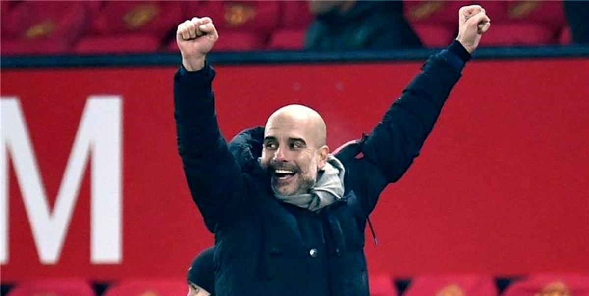 پپ گواردیولا بهترین مربی ماه لیگ برتر انگلیس شد