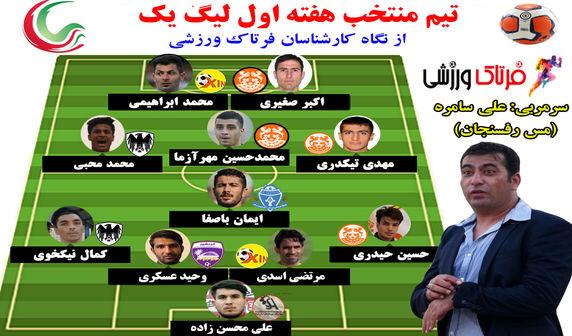 تیم منتخب هفته اول لیگ یک (پوستر)