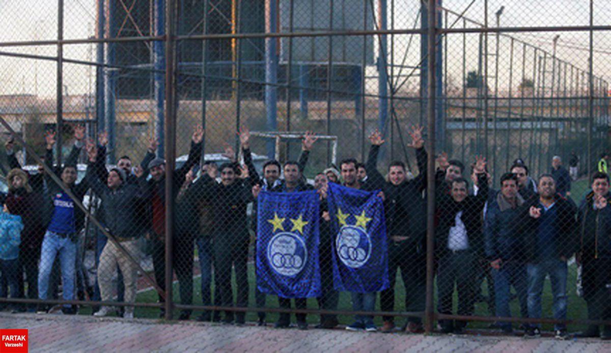 عکس|هواداران استقلال خود را به اربیل رساندند