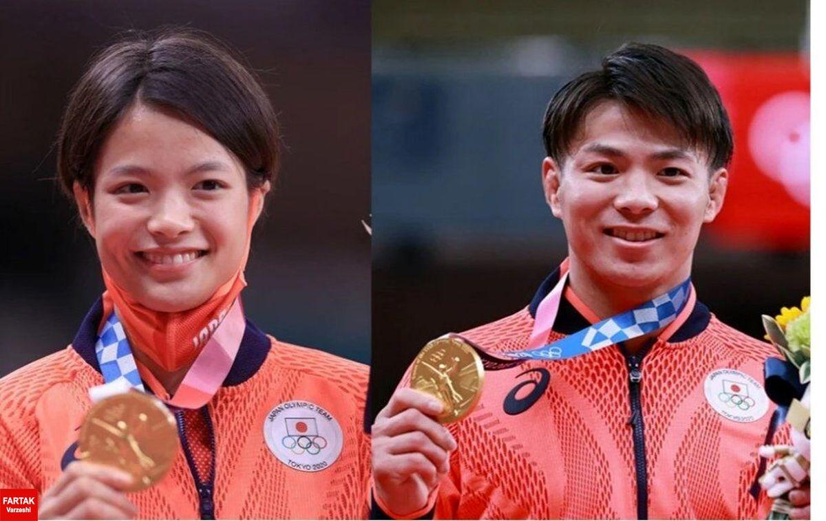 خواهر و برادر ژاپنی در یک روز قهرمان المپیک شدند