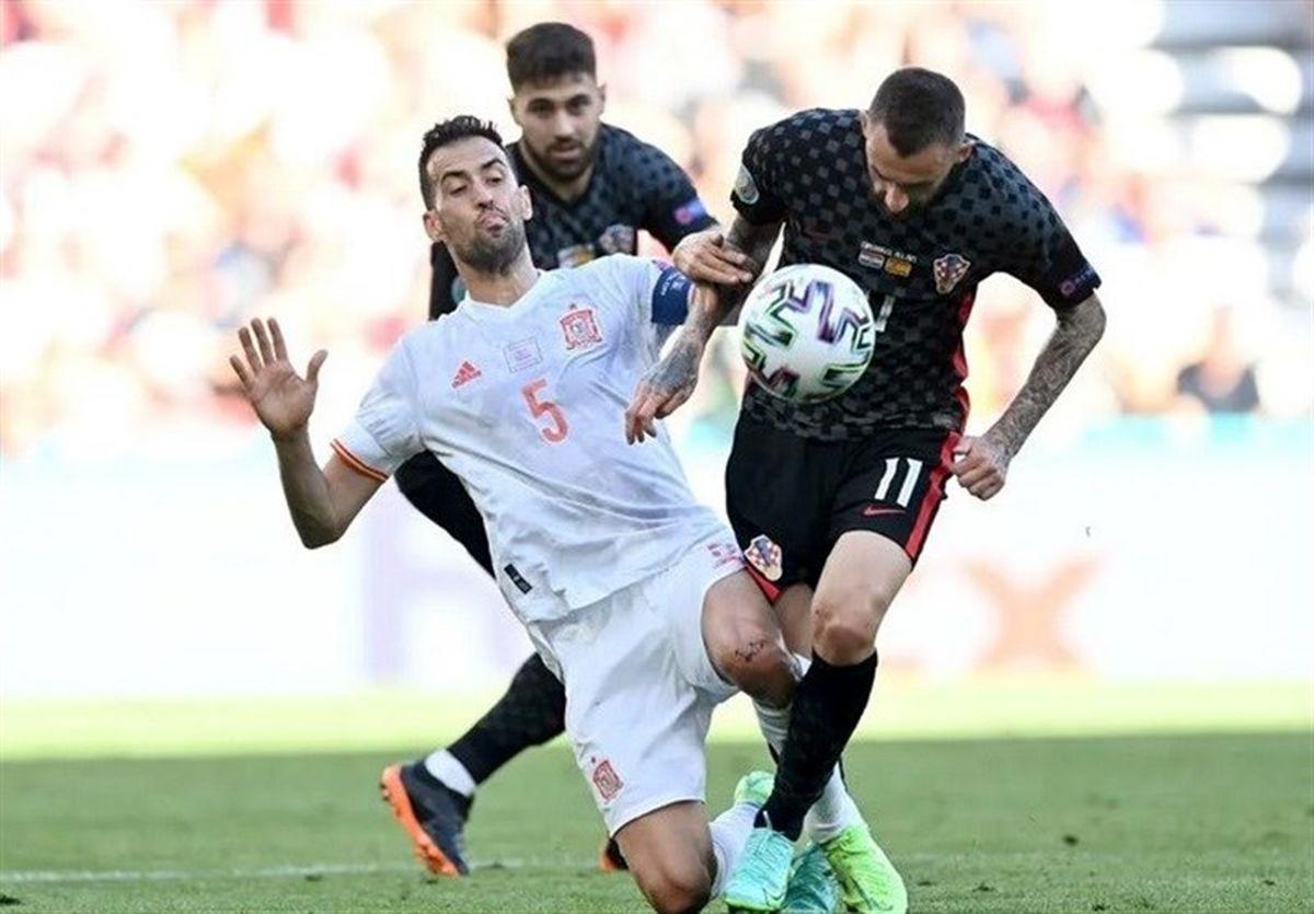 یورو ۲۰۲۰  بوسکتس؛ بهترین بازیکن دیدار کرواسی - اسپانیا