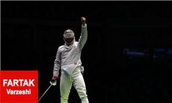 یک گام تا اولین مدال ایران/ تاریخسازی عابدینی با حضور در جمع 4 شمشیرباز المپیک