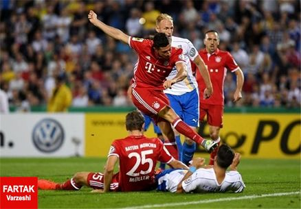 فوتبال جام حذفی آلمان/ بایرن مقتدرانه صعود کرد