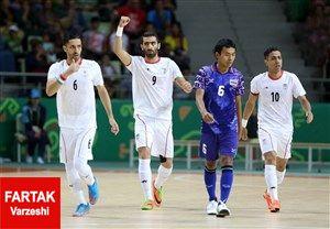 پیروزی 5 بر 4 تیم ملی فوتسال ایران مقابل روسیه
