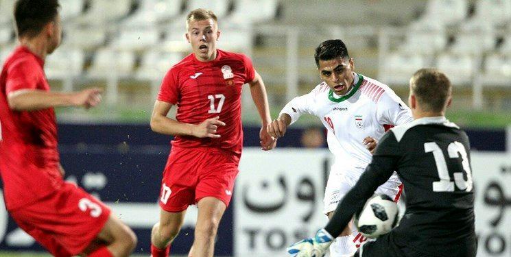 پیروزی پرگل جوانان ایران مقابل قرقیزستان در گام اول