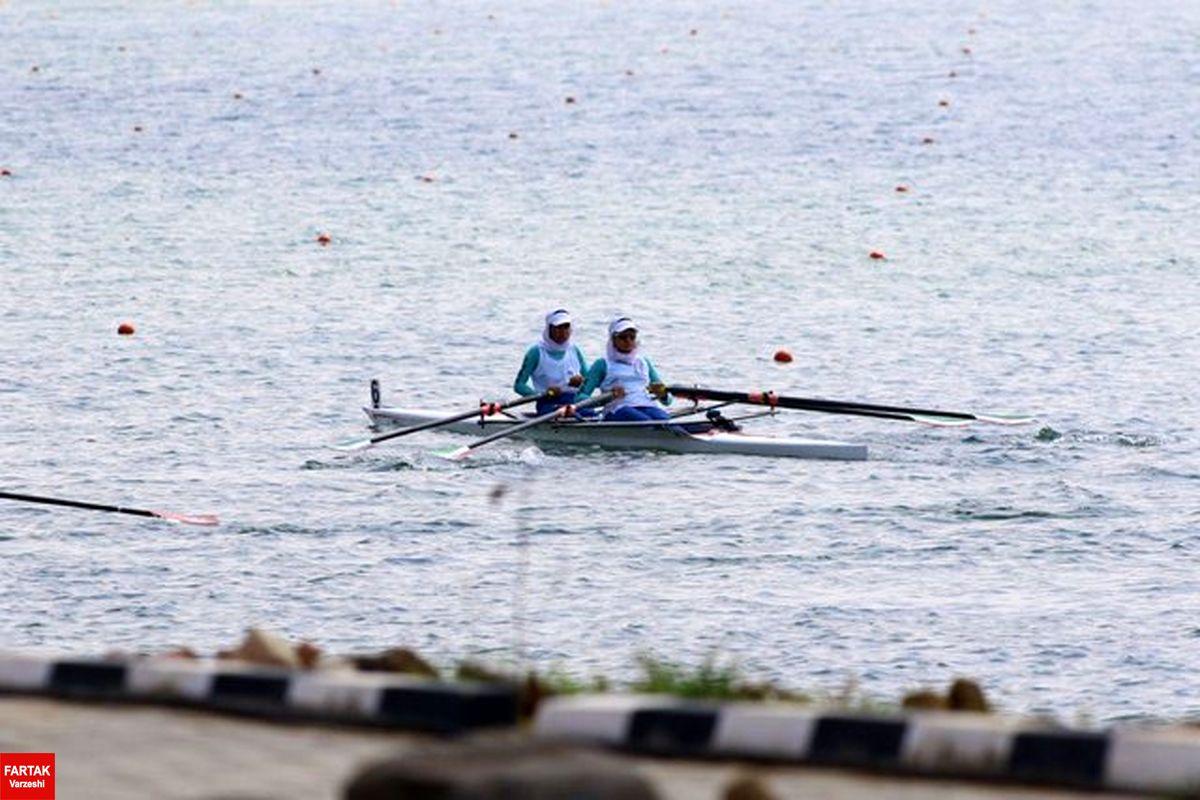 قایق دو نفره بانوان ایران صاحب مدال برنز بازیهای آسیایی شد