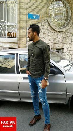 رضاییان وارد ساختمان پرسپولیس شد+عکس