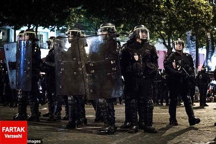 درگیری هواداران فرانسه با پلیس (عکس)